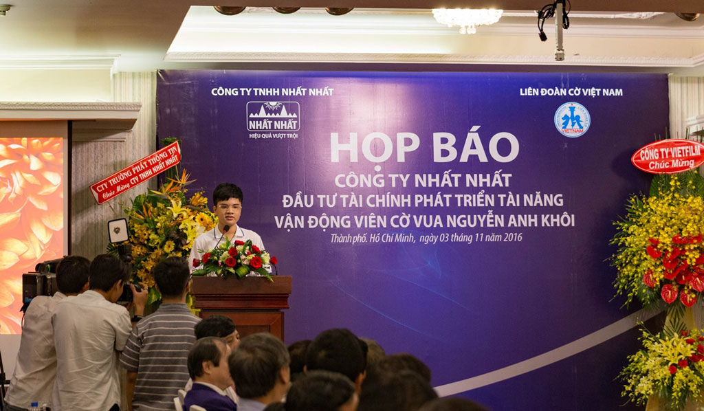 Họp báo tài trợ Nguyễn Anh Khôi